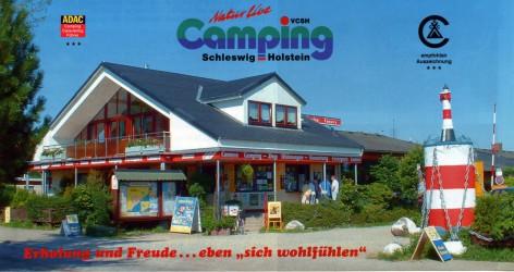 Der Eingang zum Camping-Ferienpark CAMARO Grömitz
